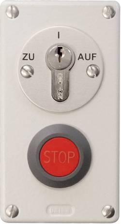 Klíčový spínač pro pohon vrat Kaiser Nienhaus 322110 s tlačítkem nouzového vypnutí, na omítku