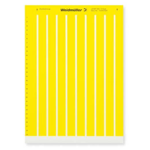 Beschriftungssystem Drucker Montage-Art: aufkleben Beschriftungsfläche: 17 x 9 mm Gelb Weidmüller LM MT300 17X9 GE 1724