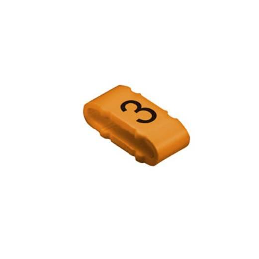 Kennzeichnungsring Aufdruck 3 Außendurchmesser-Bereich 10 bis 317 mm 1733651512 CLI M 2-4 OR/SW 3 MP Weidmüller