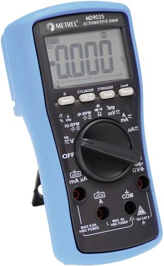Hand-Multimeter digital Metrel MD 9035 Kalibriert nach: Werksstandard KFZ-Messfunktion CAT II 1000 V Anzeige (Counts): 6000