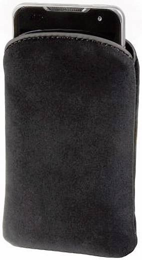 Hama Velvet Pouch Gr. XL Sleeve , Innenmaß (B x H x T): 75 x 135 x 13 mm Schwarz