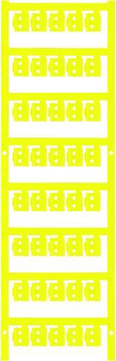 Zeichenträger Montage-Art: aufclipsen Beschriftungsfläche: 12 x 4.10 mm Passend für Serie Einzeldrähte Gelb Weidmüller S