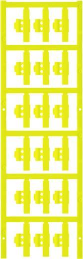 Zeichenträger Montage-Art: aufclipsen Beschriftungsfläche: 30 x 4.10 mm Passend für Serie Einzeldrähte Gelb Weidmüller S