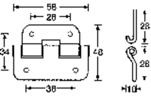 Scharnier Mc Crypt 304410 1 Paar