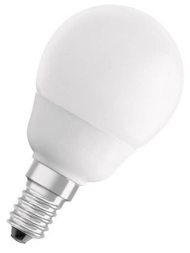 Energiesparlampe OSRAM 230 V E14 6 W = 25 W Warm-Weiß EEK: A Tropfenform Inhalt 1 St.