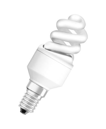Energiesparlampe OSRAM 230 V E14 5 W = 25 W Warm-Weiß EEK: A Spiralform Inhalt 1 St.