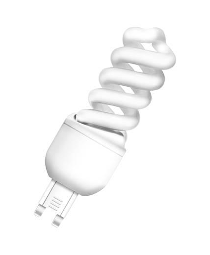 Energiesparlampe OSRAM 230 V G9 9 W = 40 W Warm-Weiß EEK: A Spiralform Inhalt 1 St.