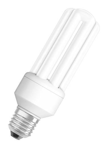 Energiesparlampe OSRAM 230 V E27 15 W = 66 W Warm-Weiß EEK: A Röhrenform Inhalt 1 St.