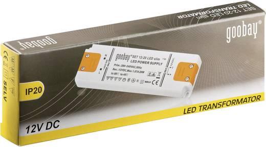 Goobay SET 12-20 LED slim LED-Trafo Konstantspannung 20 W 1.67 A 12 V/DC Möbelzulassung