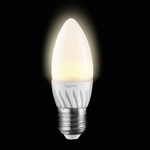LED E27 Kerzenform 3 W = 25 W Warmweiß (Ø x L) 37 mm x 106 mm EEK: A+ Sygonix 1 St.