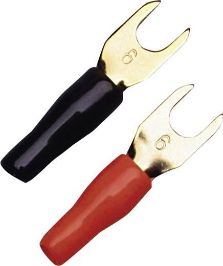 Gabelkabelschuh 6 mm² Loch-Ø=5 mm Teilisoliert Schwarz, Rot Sinuslive KSI 6 10 St.