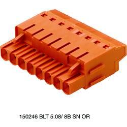Zásuvkové púzdro na kábel Weidmüller BLT 5.08/10/180LR SN OR BX 1890300000, 61.22 mm, pólů 10, rozteč 5.08 mm, 30 ks