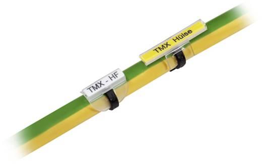 Zeichenträger Montageart: aufschieben Beschriftungsfläche: 18 x 5 mm Passend für Serie Einzeldrähte Transparent Weidmüller TM 0/18 TWIN HF/HB 1891810000 Anzahl Markierer: 50 500 St.