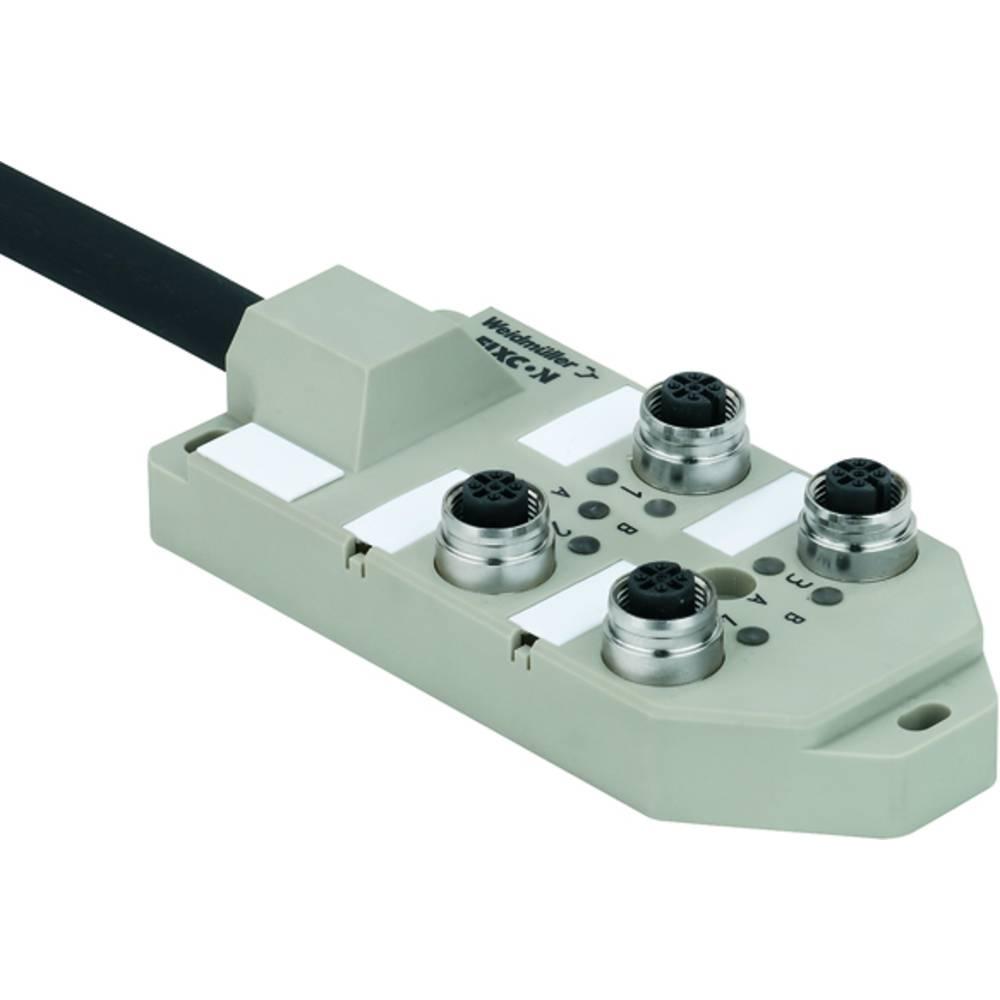 Répartiteur passif connecteur avec borne M12 Weidmüller SAI-6-M 5P M12 ECO UT 1892091000 2 pc(s)