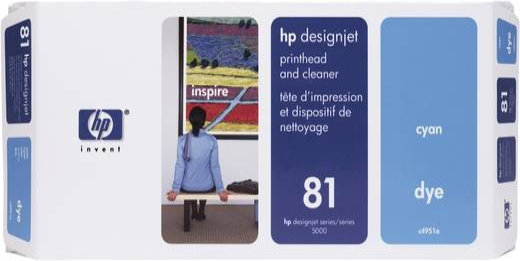 HP Druckkopf 81 Original Cyan C4951A