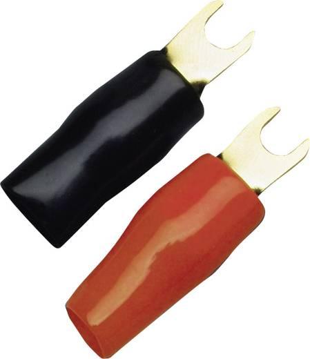 Gabelkabelschuh 25 mm² Loch-Ø=5 mm Teilisoliert Schwarz, Rot Sinuslive KSI 25 P6 6 St.
