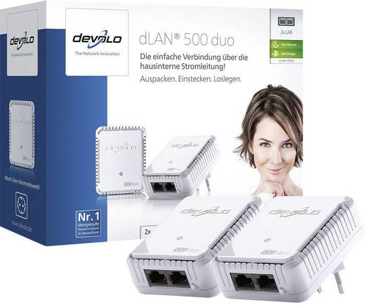 Powerline Starter Kit 500 MBit/s Devolo dLAN® 500 duo