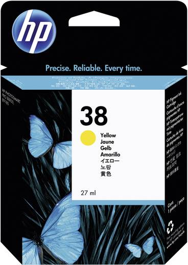 HP Tinte 38 Original Gelb C9417A