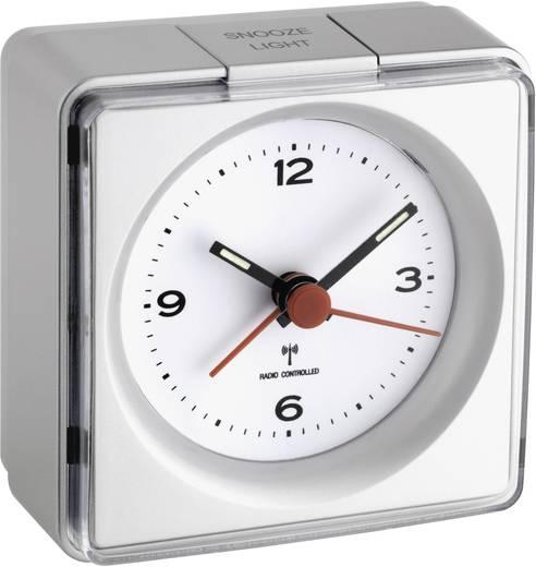 TFA 60.1501.54 Funk Wecker Silber Alarmzeiten 1