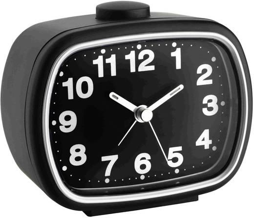 Quarz Wecker TFA 60.1017.01 Schwarz Alarmzeiten 1 Fluoreszierend Zeiger