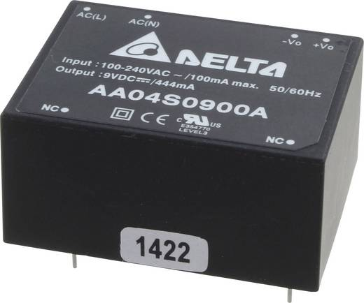 AC/DC-Printnetzteil Delta Electronics AA04S0900A 9 V 444 mA 4 W