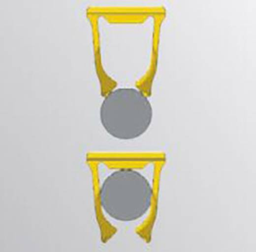 Leitermarkierer Montageart: aufclipsen Beschriftungsfläche: 21 x 8.40 mm Passend für Serie Einzeldrähte Weidmüller SF 6/21 NEUTRAL BL V2 1919200000 160 St.