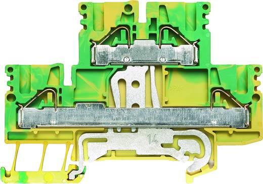 Schutzleiter-Reihenklemme, Doppelstock-Reihenklemme PDK 2.5/4 PE Weidmüller Inhalt: 50 St.