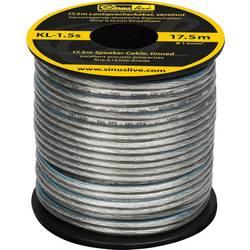 Reproduktorový kabel Sinuslive KL-1,5S, 1 x 1.50 mm², stříbrná, 17.5 m