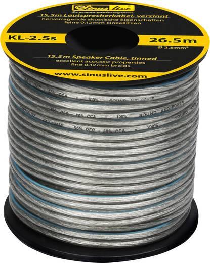 Lautsprecherkabel 1 x 2.50 mm² Silber Sinuslive KL-2,5S 15.5 m