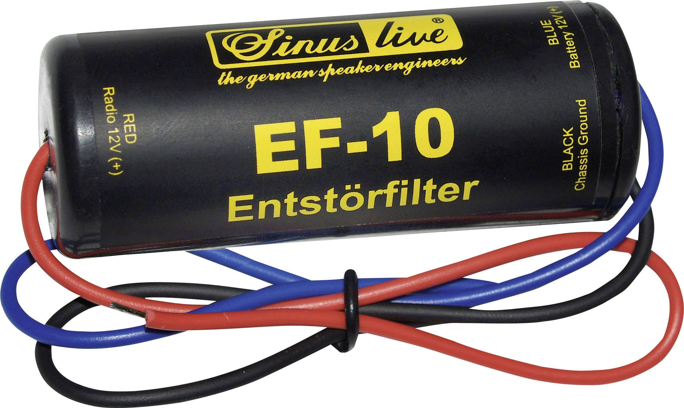 Sinuslive Entstörfilter EF-20 bis 20A Autoradio Massefilter f Bordnetzgeräusche