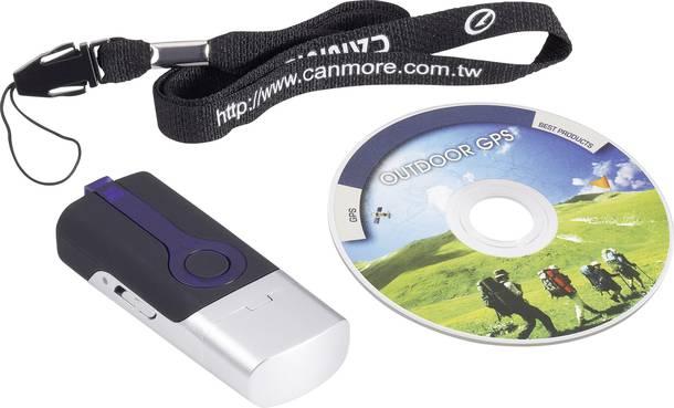 GPS Logger mit USB-Schnittstelle unter der Kappe sowie Software-CD