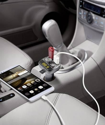 FM Transmitter Technaxx FMT900BT inkl. Freisprechfunktion, Integrierter MP3-Player, mit Ladefunktion für iPhone