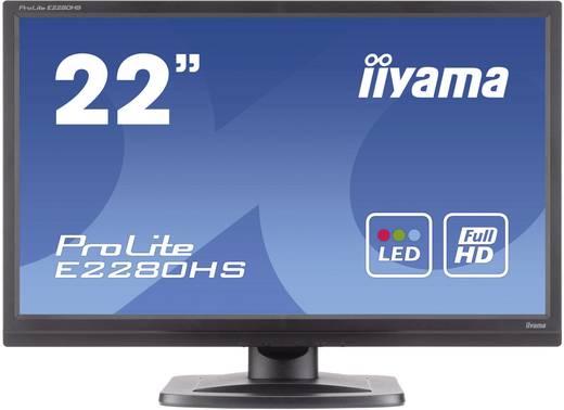 LED-Monitor 54.6 cm (21.5 Zoll) Iiyama E2280HS-B1 EEK B 1920 x 1080 Pixel Full HD 5 ms DVI, VGA TN LED