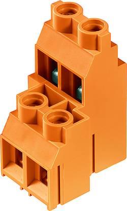 Bornier à 2 étages Weidmüller LL2N 9.52/04/90 5.0SN OR BX 1926350000 4.00 mm² Nombre total de pôles 4 orange 10 pc(s)