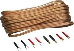 Sada kabelu a zástrček pro reproduktory Sinus Live, 2pólový, 1,5 mm², 10 m