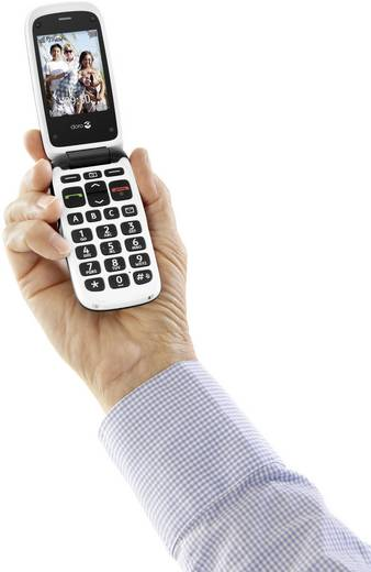 doro PhoneEasy 612 Senioren-Klapp-Handy Ladestation Schwarz, Weiß