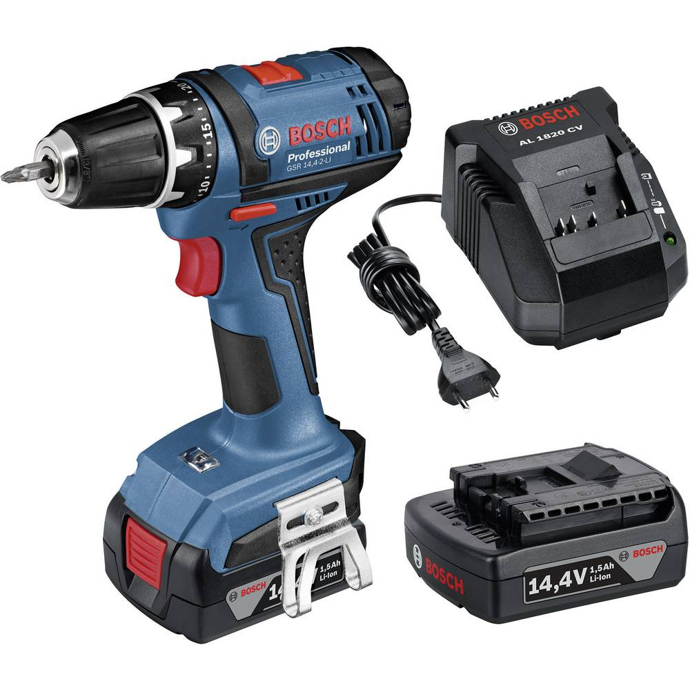 bosch professional gsr 14 4 2 li cordless drill 14 4 v 1 5 ah li ion incl spare battery from. Black Bedroom Furniture Sets. Home Design Ideas