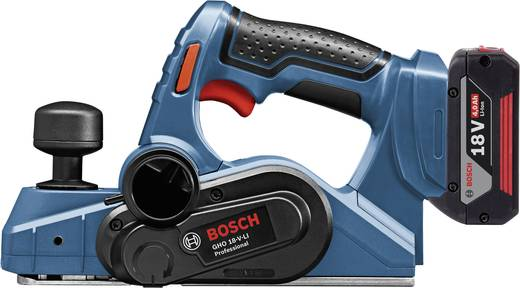 Akku-Hobel inkl. 2. Akku, inkl. Koffer Hobel-Breite: 82 mm 4 Ah Bosch Professional GHO 18 V-LI Falztiefe (max.): 8 mm