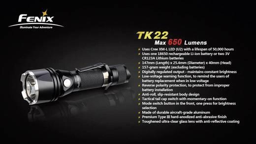 LED Taschenlampe Fenix TK 22 batteriebetrieben 650 lm 168 h 157 g