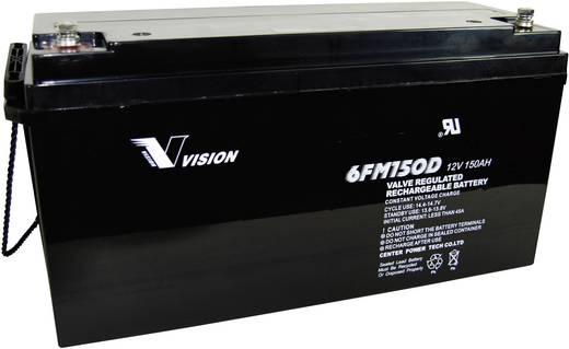 Bleiakku 12 V 150 Ah Vision Akkus VISION 6FM150DX 6FM150DX Blei-Vlies (AGM) (B x H x T) 485 x 240 x 172 mm M8-Schraubanschluss Wartungsfrei, Zyklenfest