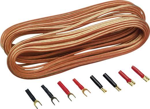 Car HiFi Lautsprecherkabel-Set 2x 0.75 mm² 10 m Sinuslive vergoldet, inkl. Stecker