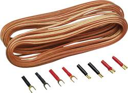 Sada kabelu a zástrček pro reproduktory Sinus Live, 2pólový, 0,75 mm², 10 m