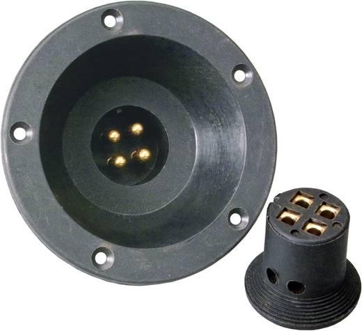 Car HiFi Lautsprecherstecker-Set 4 x 4 mm² Sinuslive inkl. Einbaubuchse, vergoldet