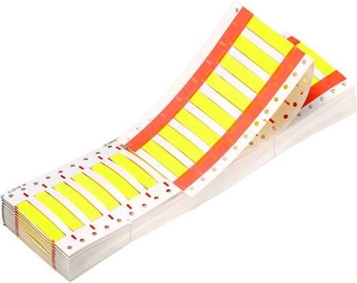 """Schrumpfschlauchmarkierer Montageart: aufschieben Beschriftungsfläche: 25.4 x 11.1 mm Passend für Serie Einzeldrähte Gelb Weidmüller HSS1/4""""2,4-5,5/25Y 1962200000 Anzahl Markierer: 1000 1000 St."""