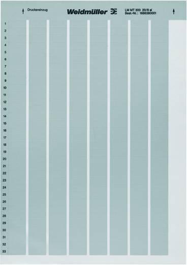 Beschriftungssystem Drucker Montage-Art: aufkleben Beschriftungsfläche: 105 x 105 mm Silber Weidmüller LM MT300 105X105