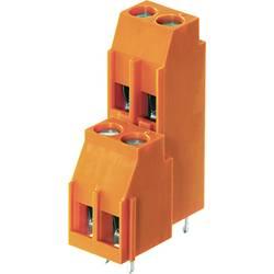 Dvojřadá svorka Weidmüller LL2N 5.00/08/90 3.2SN OR BX 1977260000, 4.00 mm², Pólů 8, oranžová, 50 ks