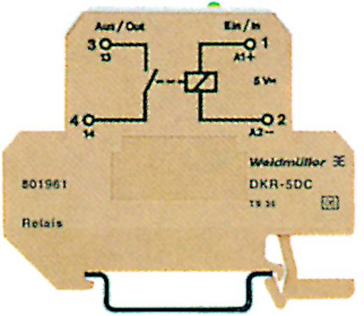 Koppelrelais 10 St. 5 V/DC 500 mA 1 Schließer Weidmüller DKR 35 5VDC 1A