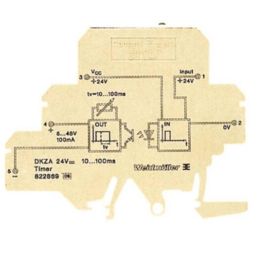 Zeitrelais Monofunktional 24 V/DC 10 St. Weidmüller DKZA DK5 24VDC 10-100MS Zeitbereich: 10 - 100 ms 1 Schließer