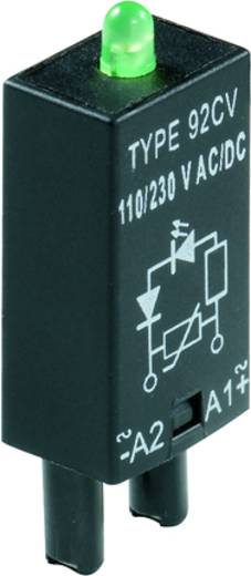Steckmodul mit LED 10 St. Weidmüller RIM 3 24 / 60VUC GN Leuchtfarbe: Grün Passend für Serie: Weidmüller Serie RIDERSERI
