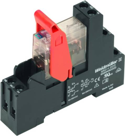 Relaisbaustein 10 St. Weidmüller RCIKIT 24VDC 1CO LED Nennspannung: 24 V/DC Schaltstrom (max.): 16 A 1 Wechsler